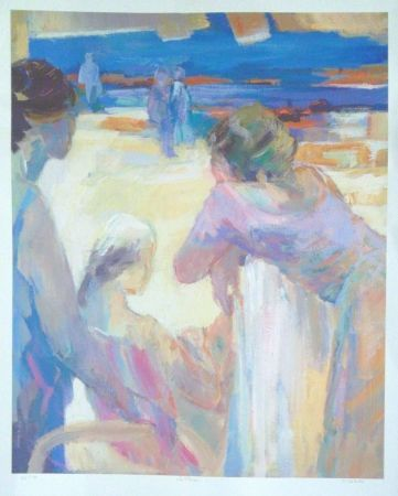 Lithograph Baroni - La plage