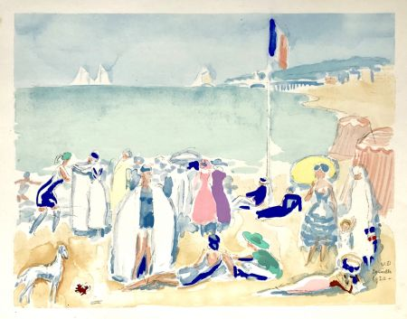 Pochoir Van Dongen - La Plage 1920
