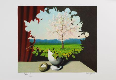 Lithograph Magritte - La Plagiat