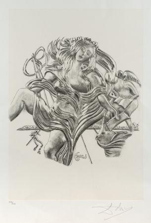 Lithograph Dali - La poesía