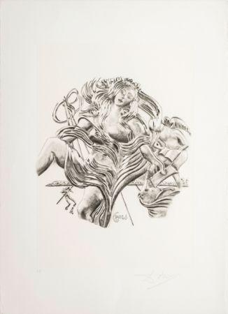 Lithograph Dali - La Poesia