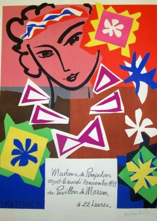 Lithograph Matisse - La pompadour