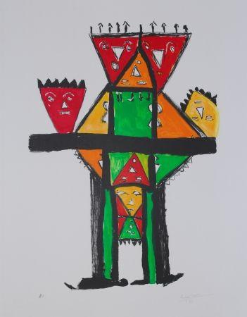 Lithograph Ionesco - La postérité royale