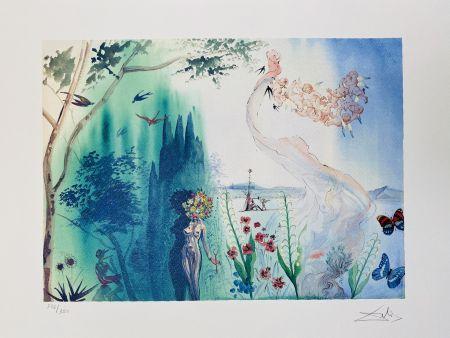 Lithograph Dali - La Primavera