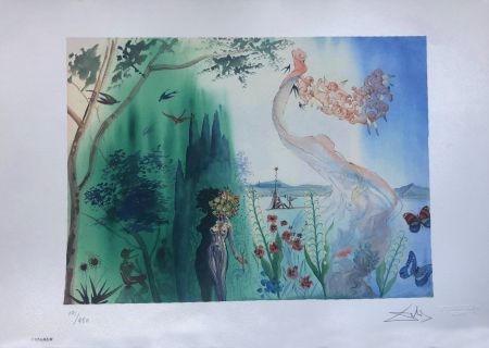Lithograph Dali - La Primavera INTERGRAFICA 56X38