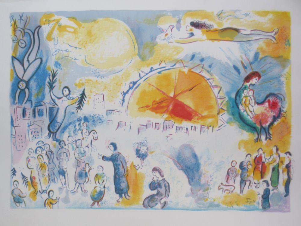 Lithograph Chagall - La procession de noël