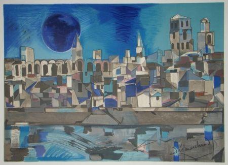 Lithograph Marchand - La Provence