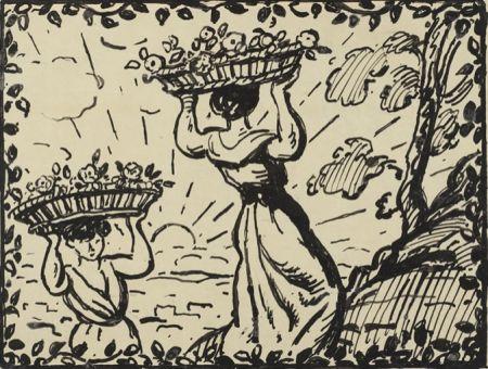 No Technical Espagnat (D') - La récolte des roses circa 1906