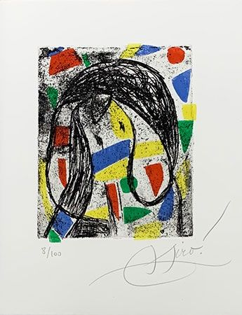 Etching Miró - La révolte des caractères