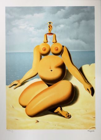 Lithograph Magritte - La Race Blanche (The White Race)