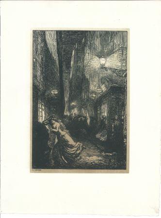 Woodcut Lepere - La rafle (The Raid)