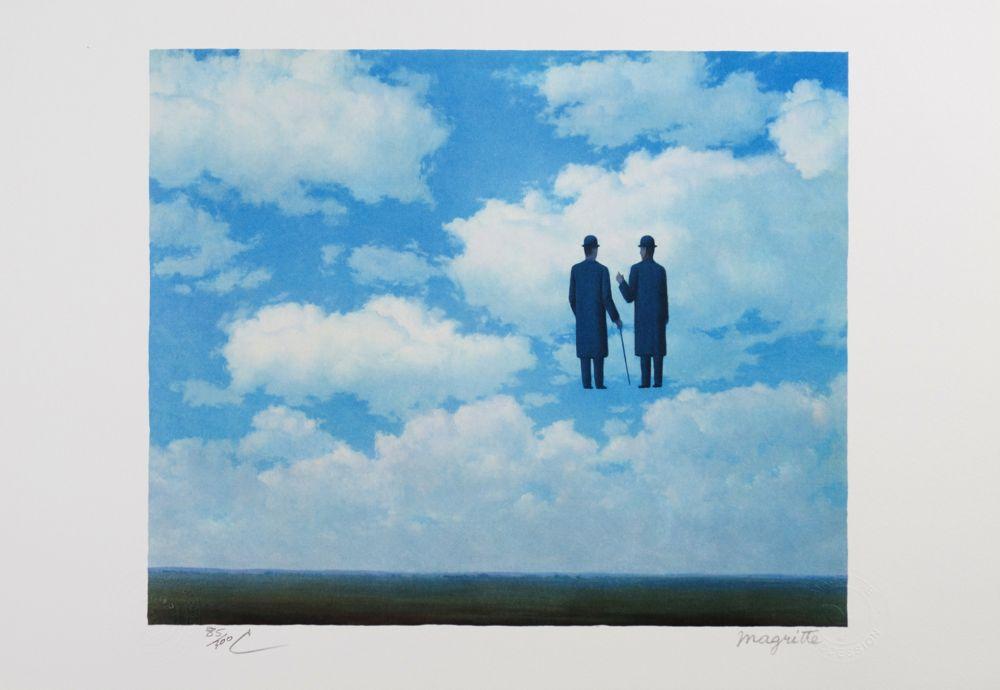 Lithograph Magritte - La Reconnaissance Infinie (The Infinite Recognition)