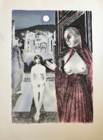 Screenprint Delvaux - La Reine de Saba