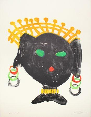 Lithograph Ionesco - La reine noire