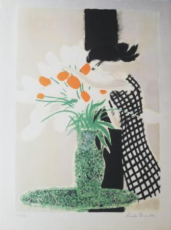Lithograph Brasilier -  La robe à carreaux