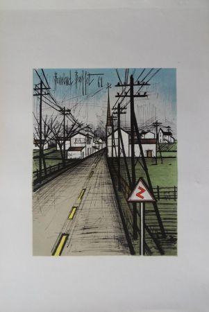 Lithograph Buffet - La route