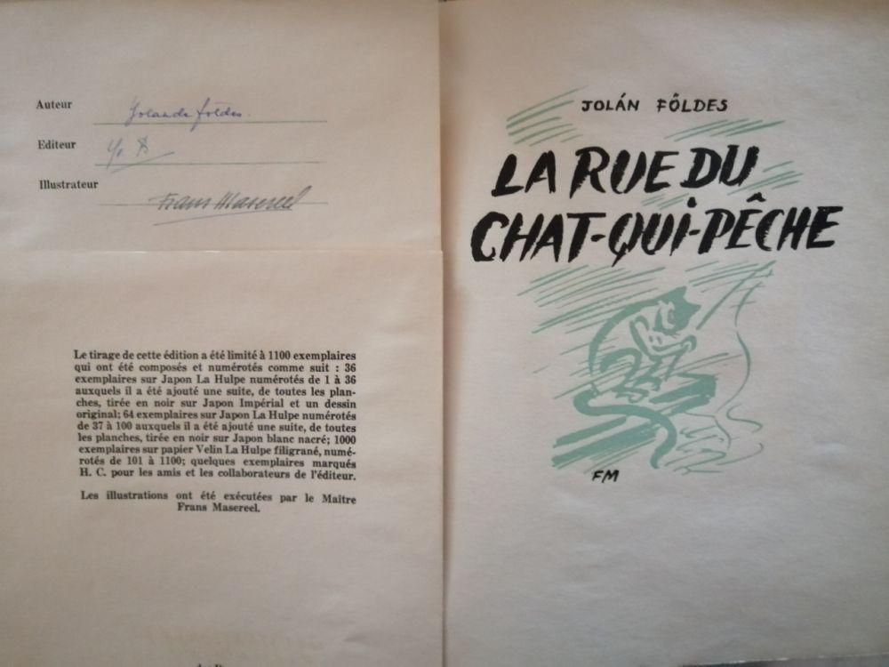 Illustrated Book Masereel - La Rue du Chat-qui-pêche