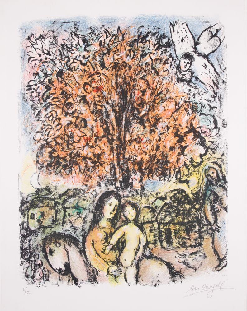 Lithograph Chagall - La Sainte Famille