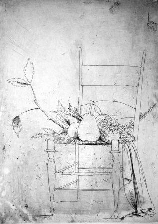 Engraving Manzu - La seggiola