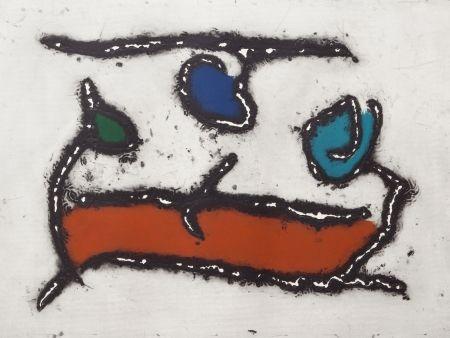 Aquatint Jacobsen - La Seine - Le Barque