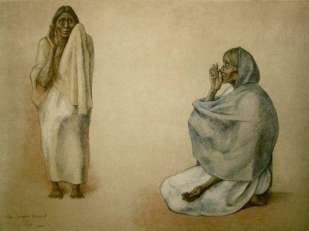 Lithograph Zuniga - La Senal