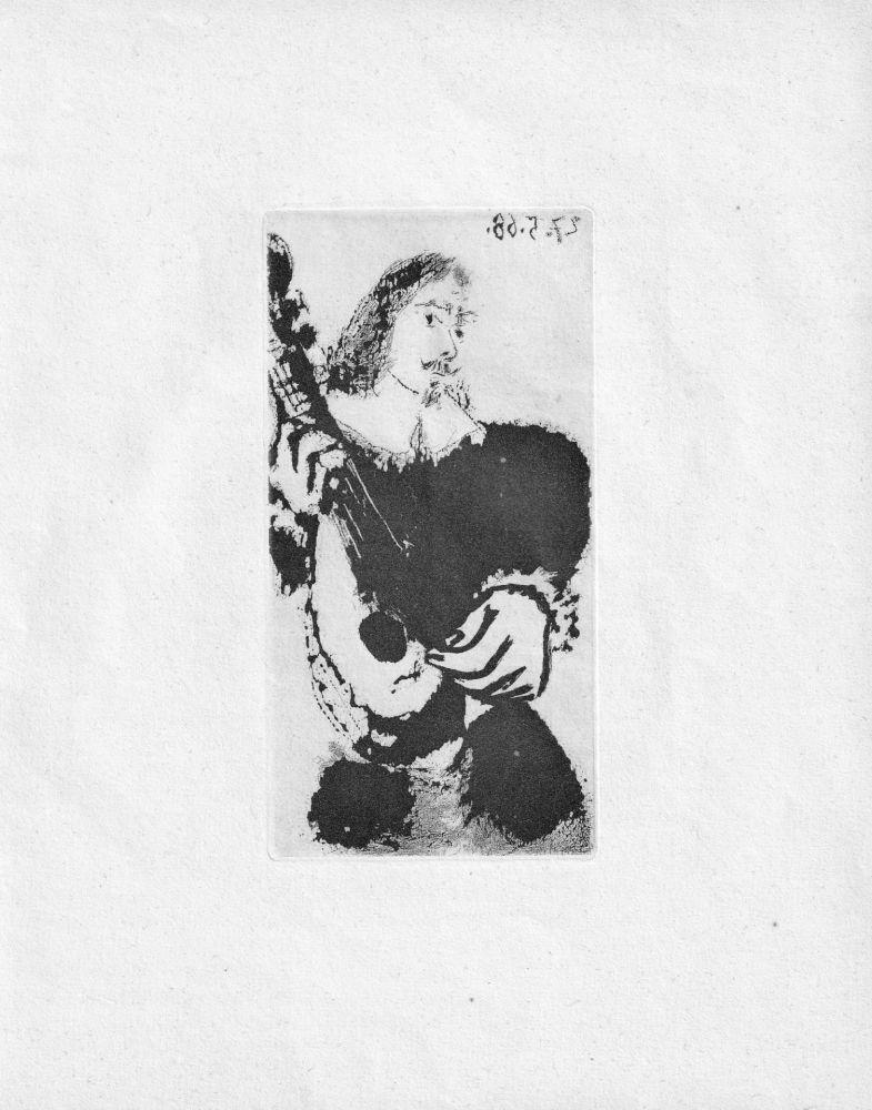 Aquatint Picasso - La Serenade