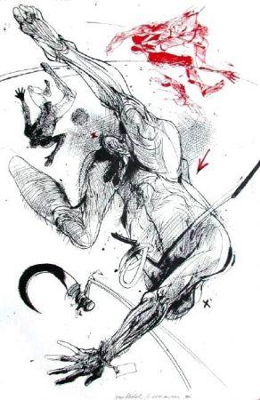 Lithograph Velickovic - La serpe