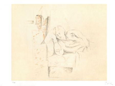 Lithograph Balthus - LA SIESTE