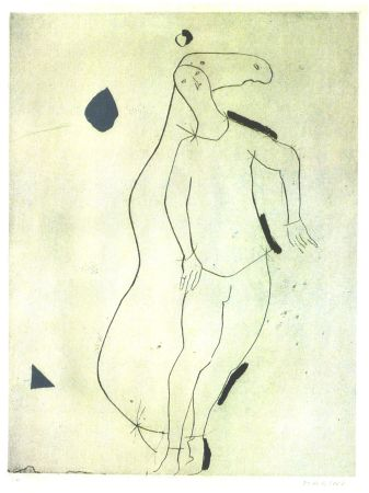 Etching And Aquatint Marini - La Sorpresa I, from Personaggi, Plate III