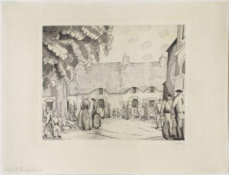Engraving Laboureur - La Sortie de la Grand'messe