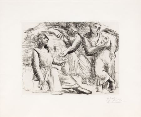Drypoint Picasso - La Source