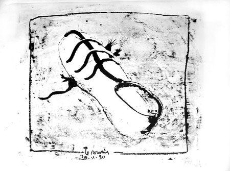 Lithograph Barcelo - La souris