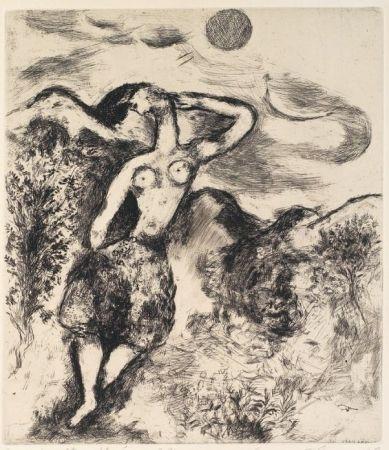 Etching And Aquatint Chagall - La souris métamorphosée en fille