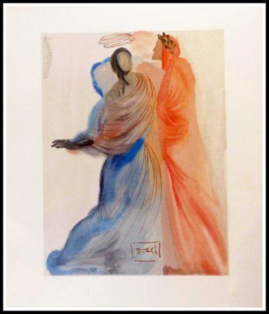 Woodcut Dali - La splendeur de Béatrice
