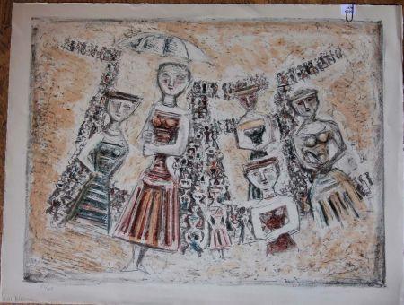 Lithograph Campigli - La strada
