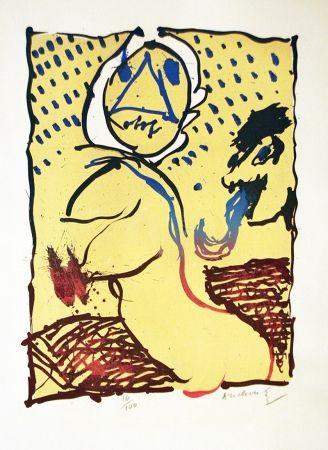 Lithograph Alechinsky - LA TAILLE DOUCE