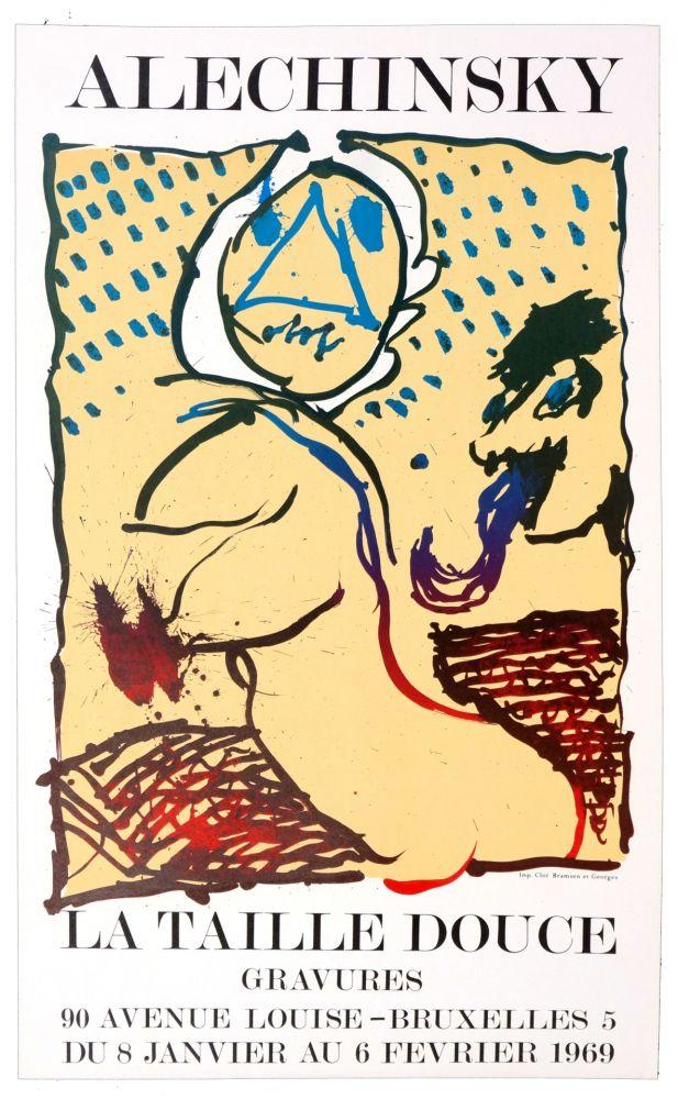 Poster Alechinsky - La taille douce, Bruxelles