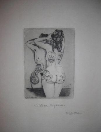 Drypoint Martini - La tatuata allo specchio