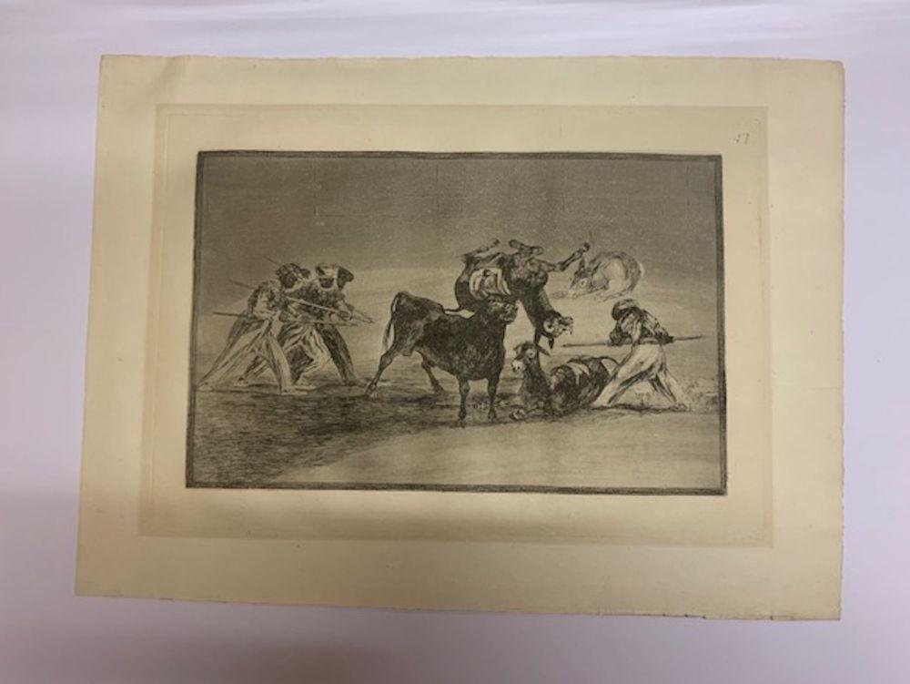 Etching And Aquatint Goya - La Tauromaquia