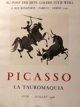 Poster Picasso - La Tauromaquia - Au Pont des Arts - Galerie Lucie Weil, Paris Juin - Juillet 1960