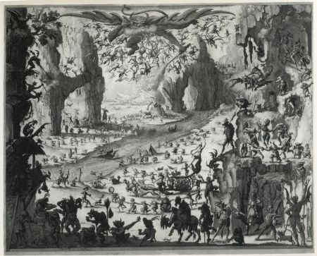 Etching And Aquatint Desmazières - La Tentation de Saint-Antoine