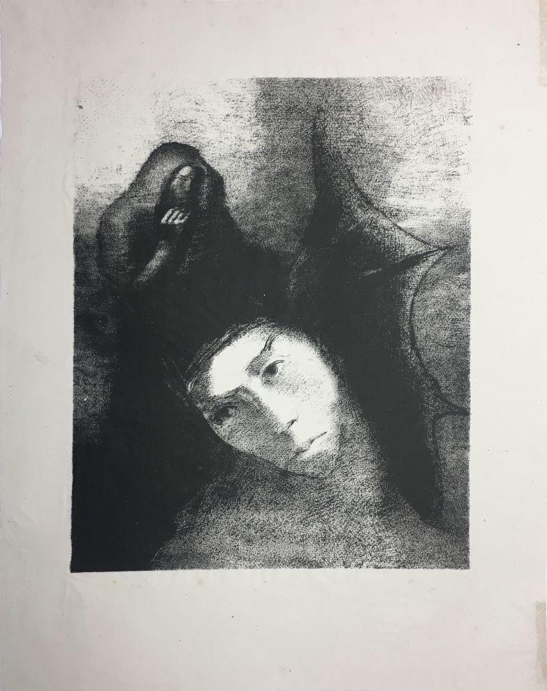 Lithograph Redon - LA TENTATION DE SAINT-ANTOINE (Planche XVIII, 3ème série) 1896