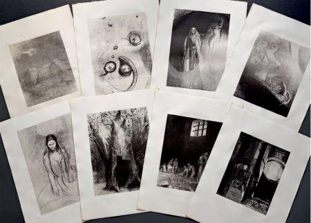 Lithograph Redon - LA TENTATION DE SAINT ANTOINE. Lithographies originales d'Odilon Redon.