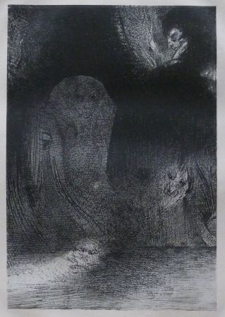 Lithograph Redon - La Tentation de Sainte-Antoine