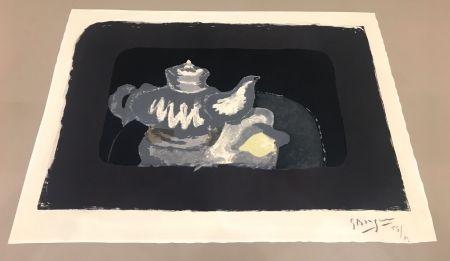 Lithograph Braque - La théière grise
