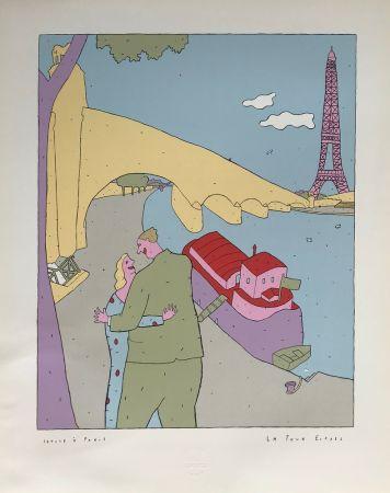 Screenprint Kœchlin - La Tour-Eiffel