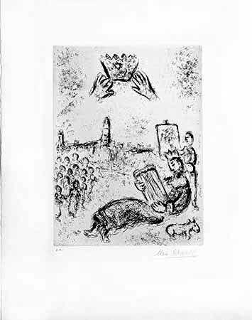 Etching Chagall - La tour du Roi David