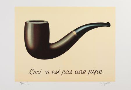 Lithograph Magritte - La Trahison des Images