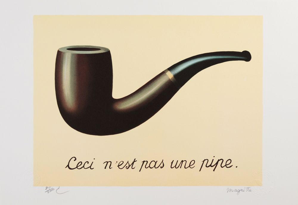 Lithograph Magritte - La Trahison des Images (The Treachery of Images)