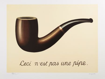 Lithograph Magritte - La Trahison des Images (The Treachery of Images)
